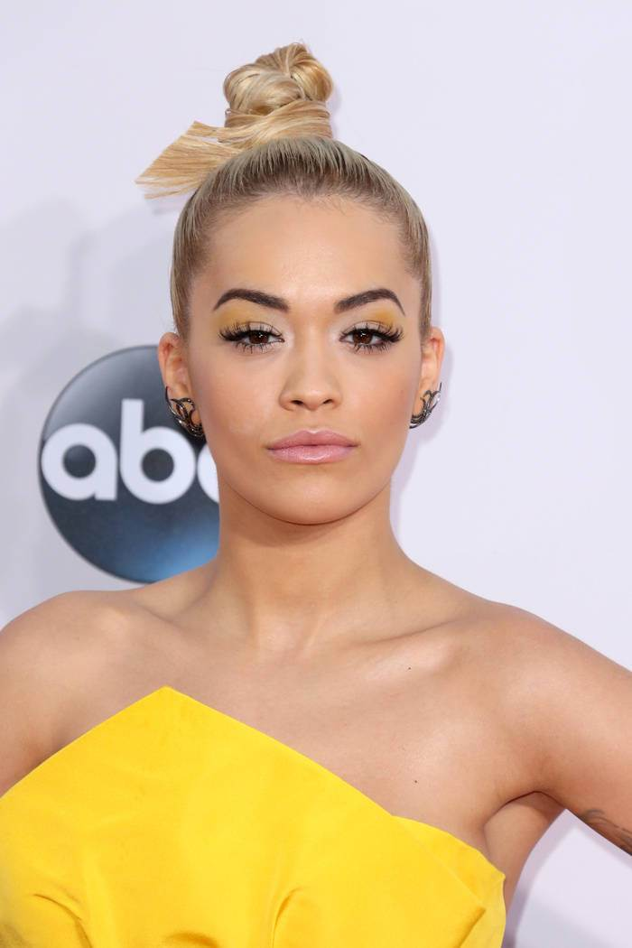 Rita Ora Blonde Hairstyles 2015