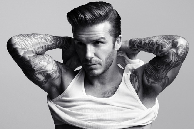 David Beckham Polished Quiff Hairstyles 2015