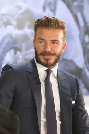 David Beckham Elegant Hairstyles 2015
