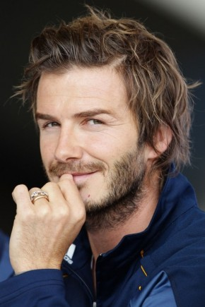 David Beckham Messy Hairstyles 2015