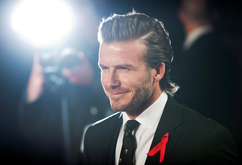 David Beckham Celebrity Hairstyles For Spring 2015