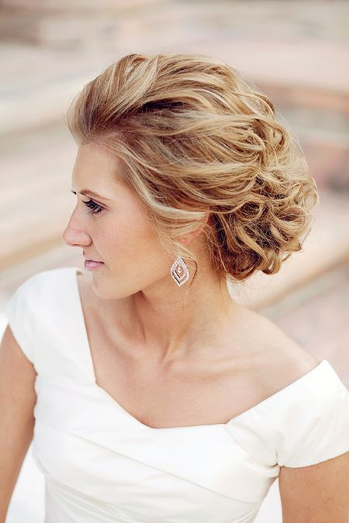 Medium Wedding Hairstyles: Elegant Updo Wedding Hairstyles Spring 2015