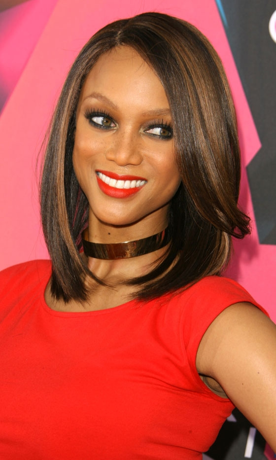 Tyra Banks bob hairstyles for black women 2015