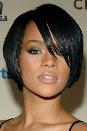 Rihanna short bob hairstyles for black women 2015