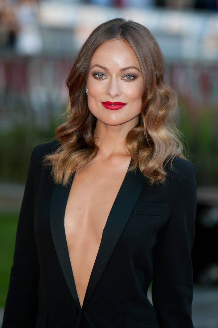 Olivia Wilde celebrity brown hair colors 2015