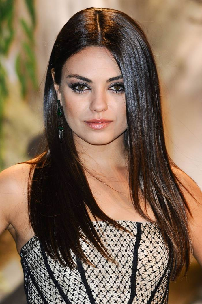 Mila Kunis celebrity brown hair colors 2015