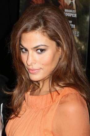 Eva Mendes celebrity brown hair colors 2015