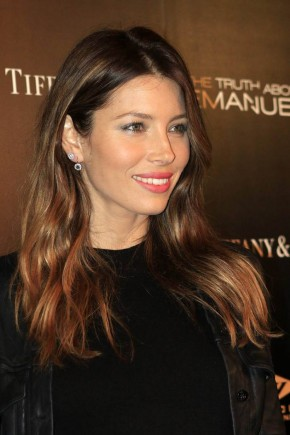 Jessica Biel celebrity brown hair colors 2015