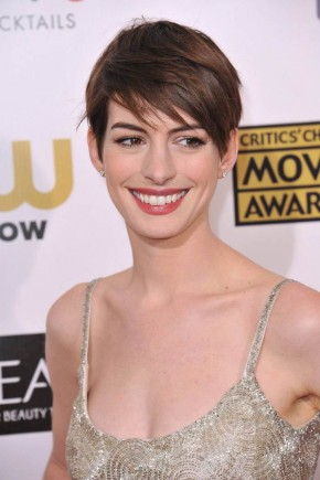 Anne Hathaway celebrity brown hair colors 2015