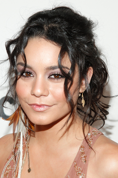 Vanessa Hudgens celebrity curly hairstyles 2015