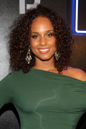 Alicia Keys celebrity curly hairstyles 2015
