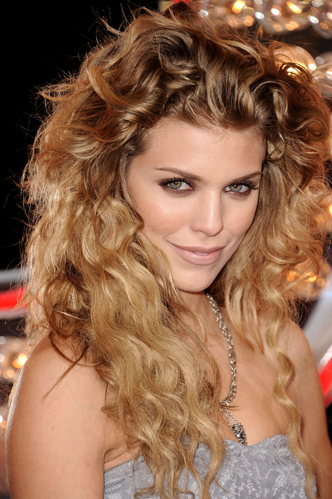AnnaLynne McCord celebrity curly hairstyles 2015