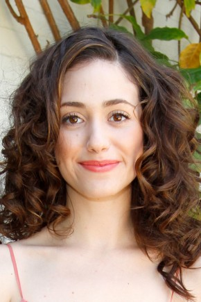 Emmy Rossum celebrity curly hairstyles 2015