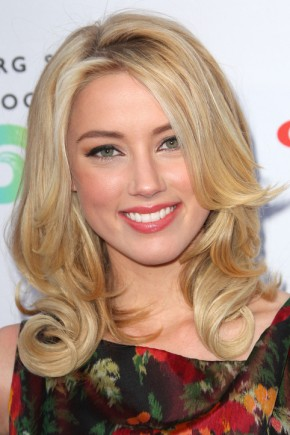 Amber Heard celebrity curly hairstyles 2015