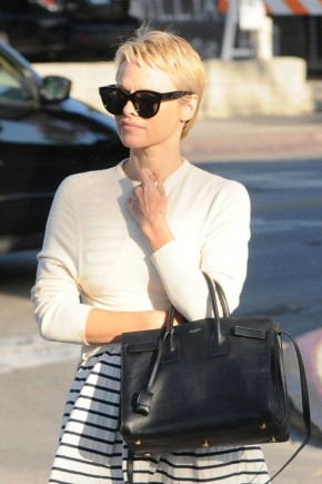 Pamela Anderson pixie haircuts 2015