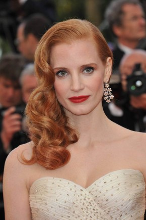 Jessica Chastain red hairstyles 2015