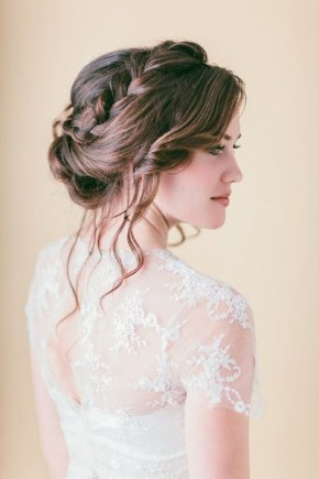 Relaxed braids wedding hairstyles 2015