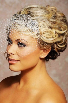 Blonde medium wedding hairstyles 2015