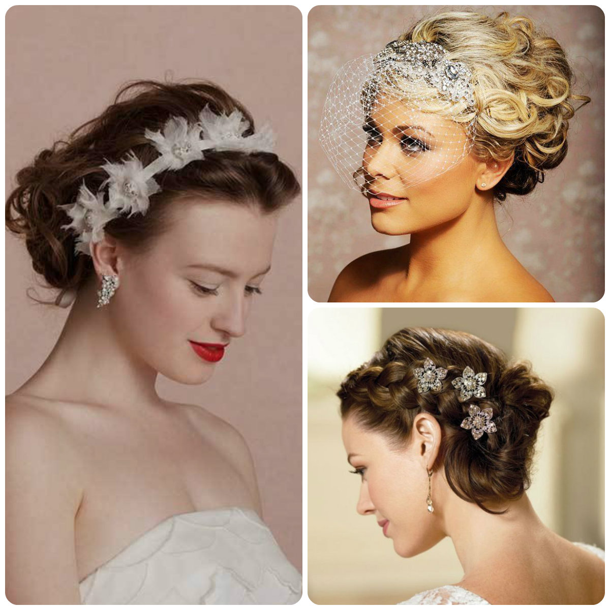 Elegant Updo Wedding Hairstyles Spring 2015