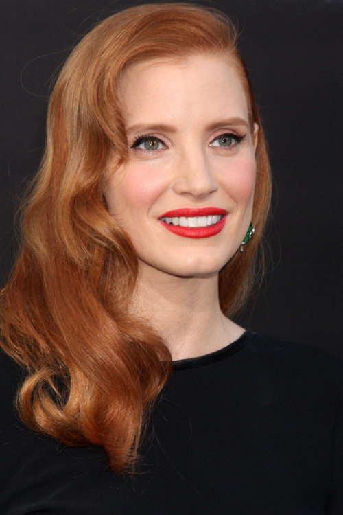 Jessica Chastain Bangs hairstyles 2015