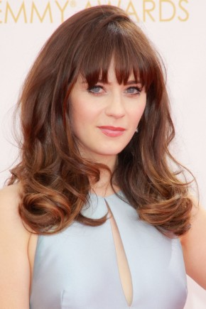 Zooey Deschanel Bangs hairstyles 2015