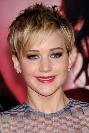 Jennifer Lawrence Bangs hairstyles 2015