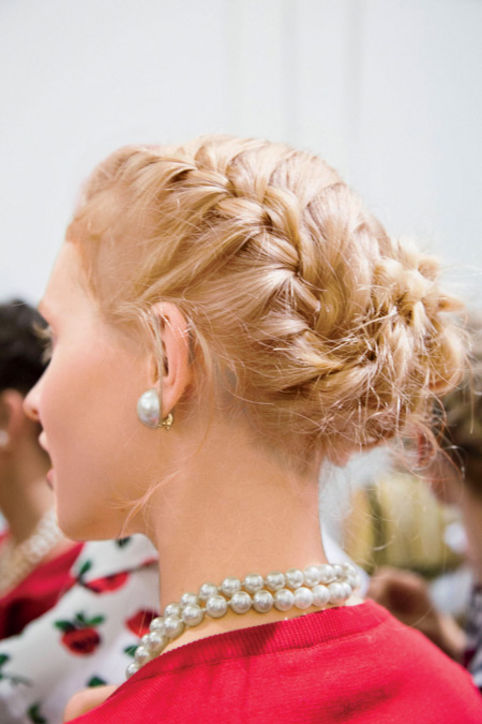 Blonde braided updo Hairstyles 2015