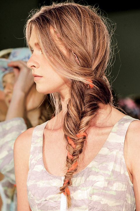 Loose Side Fishtail Braids Hairstyles 2015