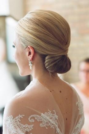 Low wrap bun wedding hairstyles 2015
