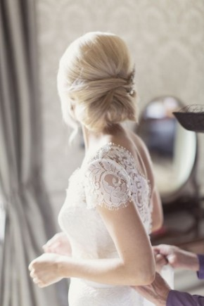 Huge wrap bun bridal hairstyles 2015