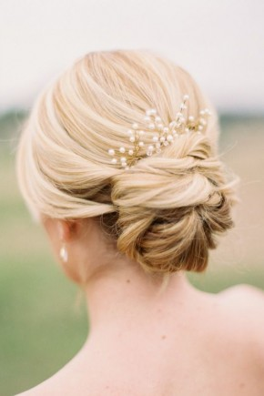 Bridal Updo hairstyles 2015 with pearls