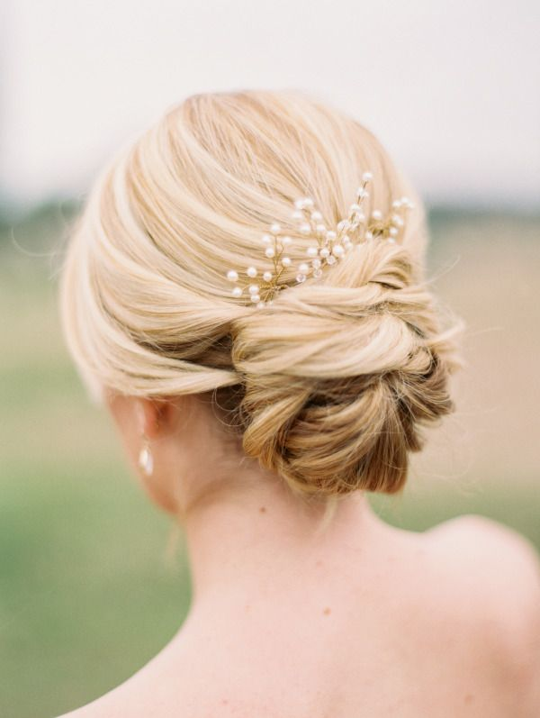 Bridal Updo Hairstyles 2017 With Pearls