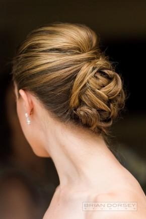 Elegant Bun wedding hairstyles 2015