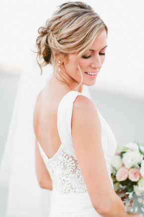 Romantic Bridal Updo hairstyles 2015