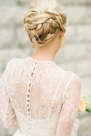 Braided Bun Wedding Updo hairstyles 2015