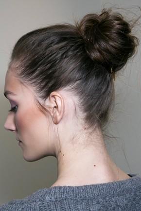 Diane Von Furstenberg Messy Bun Hairstyles 2015