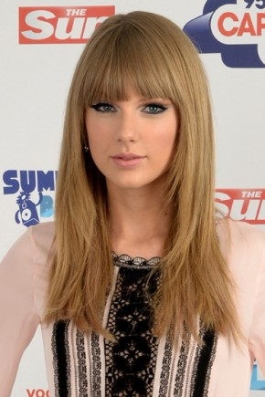 Taylor Swift Long Hairstyles 2015 with Bangs