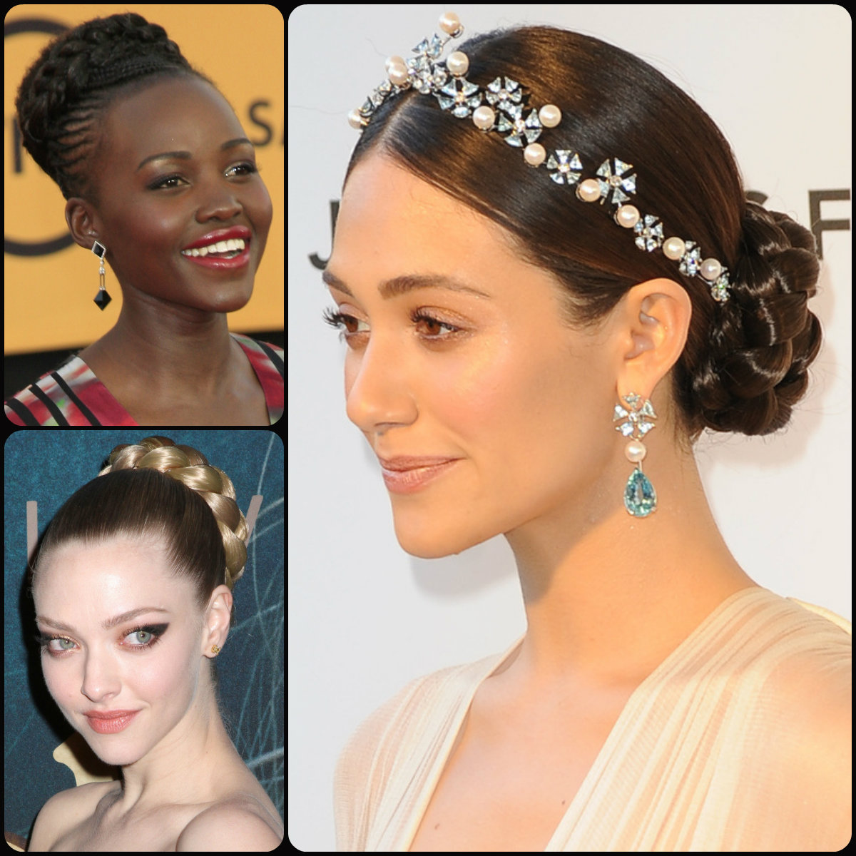 braided bun hairstyles 2015