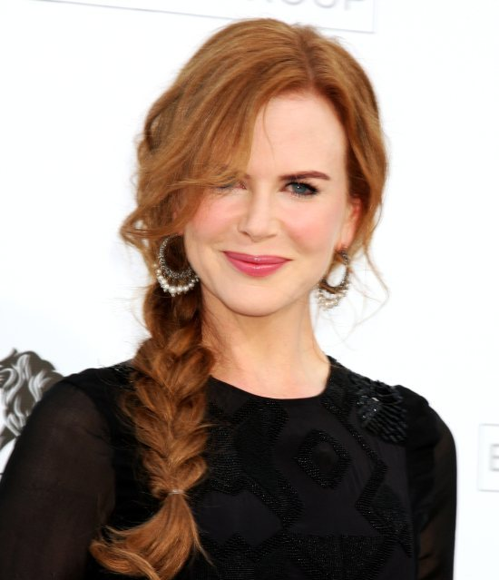 Nicole Kidman fishtail braids 2015
