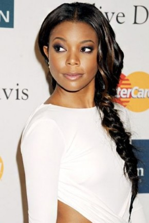 Gabrielle Union fishtail braids 2015