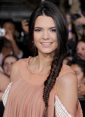 Kendall Jenner fishtail braids 2015