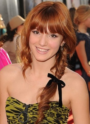 Bella Thorne fishtail braids 2015
