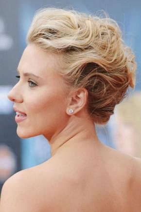 Scarlett Johansson celebrity updo hairstyles 2015