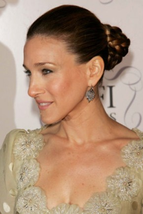 Sarah Jessica Parker celebrity updo hairstyles 2015