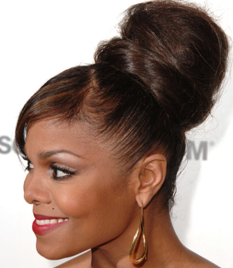 Janet Jackson celebrity updo hairstyles 2015
