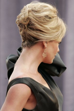 Charlize Theron celebrity updo hairstyles 2015