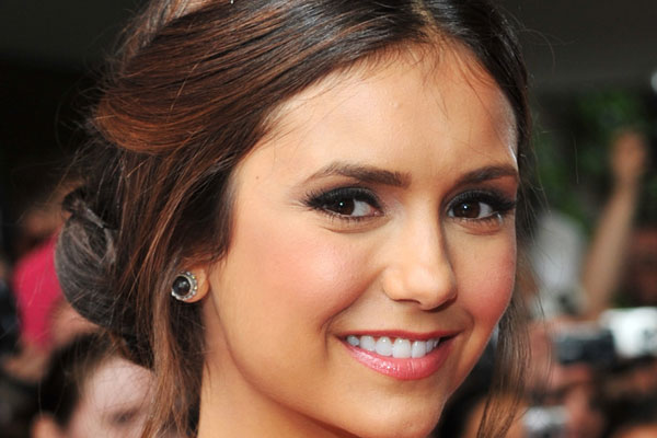 Nina Dobrev cute and easy celebrity updos 2015