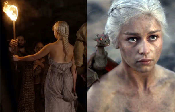 The Game of Thrones double braids hairstyles 2015