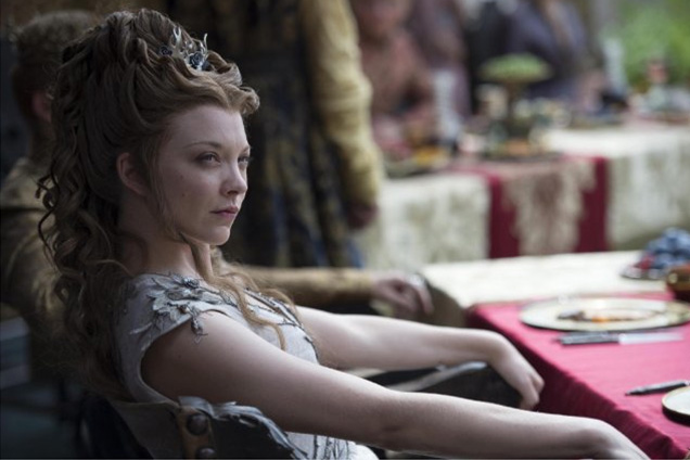 Margaery Tyrell updo hairstyles with braids 2015
