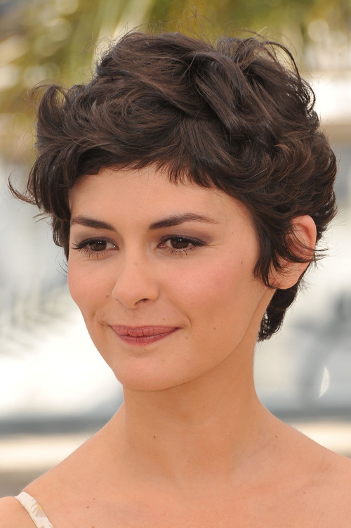 Audrey Tautou short hairstyles with bangs 2015
